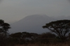 A very hazy Mount Kilimanjiro from Ambesoli, Kenya