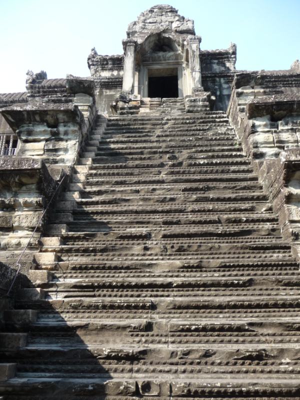One of four stairways to the Bakan Central Tower
