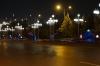 Ashgabat near the Sofitel at night