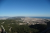 View towards Badalona from the spire at Tibidabo