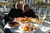 Bruce & Thea enjoy tapas lunch at Badalona