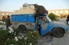 Blue truck in Naqsh-e Jahan Square