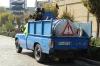 Blue truck in Tehran