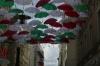 Umbrellas celebrate an Italian festival in Brno CZ