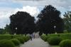The gardens of the Cesky Krumlov castle