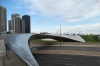 Frank Gehry's BP Bridge, connecting Millennium Park to Daley Bicentennial Plaza, Chicago