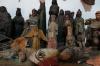 Ancient masks & statues. Moreria Santo Tomas - made by Miguel Ignacio