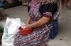 Pulling kernal of corn cobs. Moreria Santo Tomas - made by Miguel Ignacio