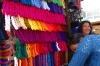 Colourful threads. Market day in Chichicastenango