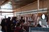 Meat market. Market day in Chichicastenango