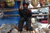 San Simon, the smoking man. Market day in Chichicastenango