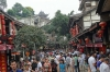Crowded Saturrday afternoon. Ciqikou Ancient Town, Chongqing, China