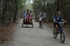 Transport was walking, bikes or taxi-trikes in the Ancient Ruins of Coba