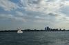 Detroit River from the Riverwalk. Detroit MI