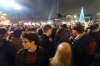 Crowds in Trafalgar Square for NYE