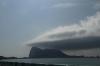 First view of Gibraltar from La Linea de la Concepcion