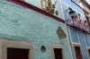 Colourful houses is Guanajuato