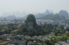 View of limestone caste in the Forbidden Temple, from Fubo Hill, Guilin, China