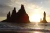 Reynisdrangar stacks from Reynisfjoru beach