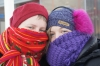 Steph & Andrea learning to keep warm in Reykjavik