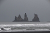 Reynisdrangar stacks from Vik Beach