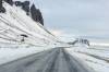 On the road between Vik and the Svinafellsjökull glacier