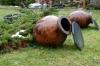 Wine pots. Ikalto Monastery near Telavi