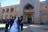 Brides & Grooms in front of the Islom-Hoja Medressa
