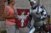 The aluminium soldier outside Wawel Royal Castle, Kraków PL