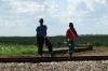 Two boys in the sugar cane region