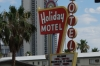 Holiday Hotel-Motel. Old style sign in Las Vegas