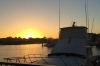 Long Beach marina at sunset
