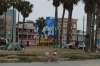 The boardwalk at Venice Beach