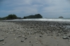 Manuel Antonio beach, before the high tide.