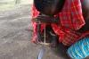 Making fire in the Masai Village, Masaimara, Kenya
