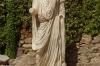 Augustus statue. Aula Sacra, perhaps to worship August, Roman Theatre, Merida