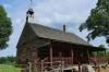 Original wooden chapel, St Philip's African Morovian Church, Morovian Village, Winston-Salem NC