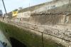 Original 55 feet (16m) thick wall of locks of the Panama Canal.