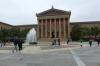 The front entrance to the Philadelphia Museum of Art