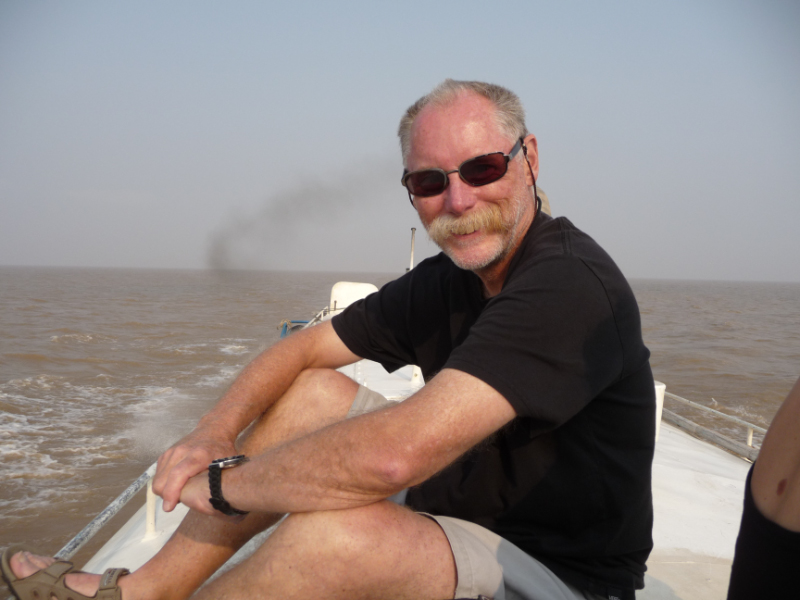 """On the """"fast boat"""" from Siem Reap via the Tonle Sap lake and river"""