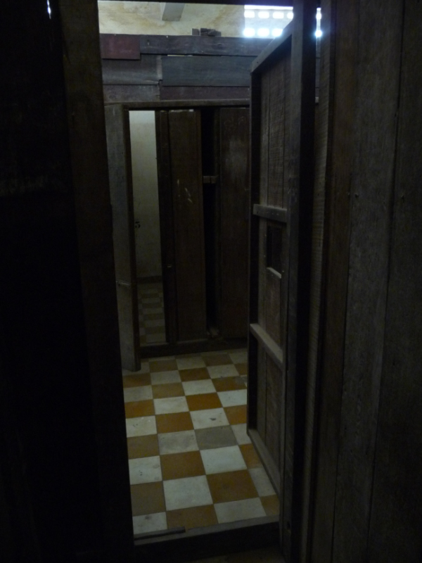 Holding chambers and cubicles in Building C of the Tuel Sleng (S-21) Security Prison