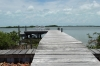 A jetty on the lagoon (west) side of Isla Bonita