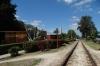 The railway track today, beside Monumento a la Toma del Tren Blindado