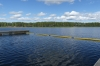 Lakeside swimming pool on Puruvesi Lake near Kerimäki FI