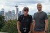 Bruce with Tim Pritchard at Kerry Park, overlooking Seattle