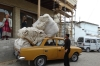 Transporting cotton. The market, Shakhrisabz