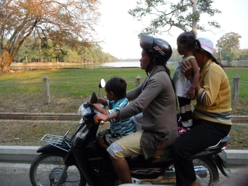 Tuk Tuk ride to see sunset at Angkor Wat