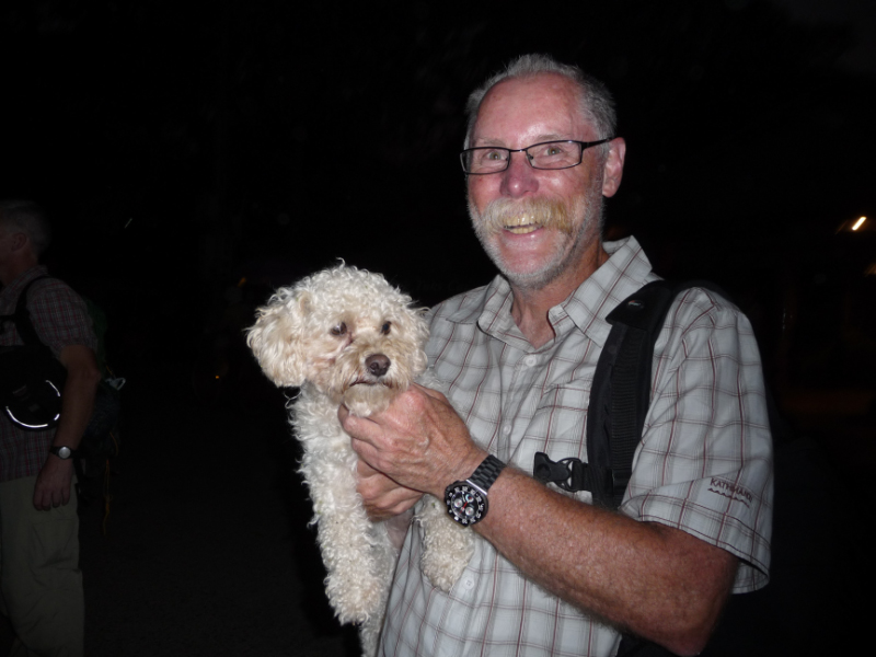 Bruce and the River Garden dog - friends