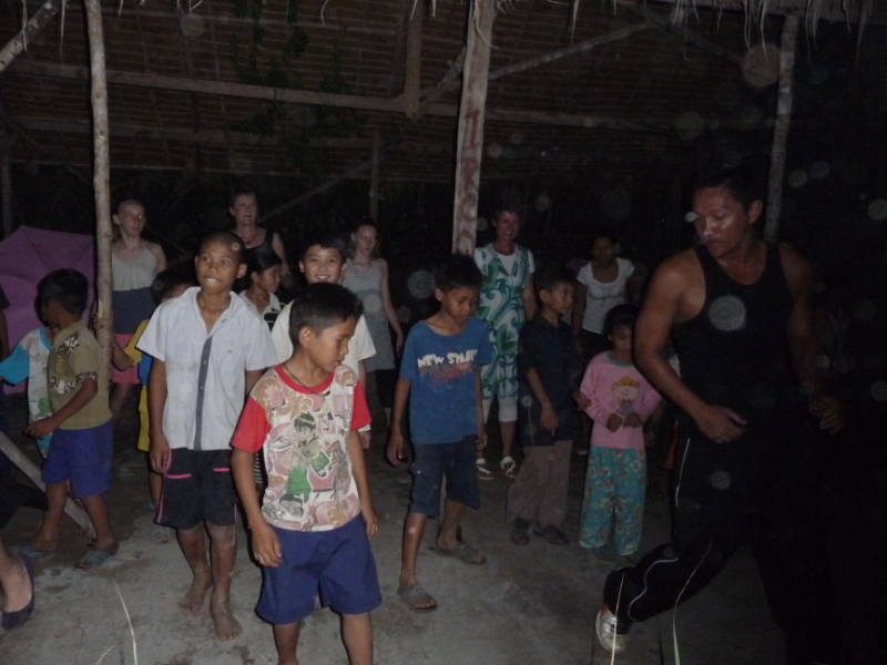 Local kids learning to dance at River Garden
