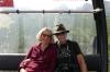 Bruce & Thea in cable car down from Skalnaté Pleso to Štart in Tatranská Lomnica SK